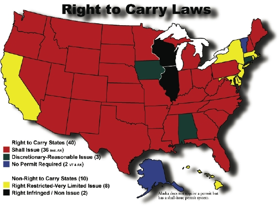 RIGHT TO CARRY MAP